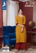 kaya bluebells kurtis with plazo catalog at wholesale