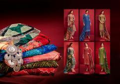 elegant hardikk zubeda pashmina digital printed suits with velvet stole
