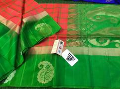 elegant Gadwal soft silk sarees with pallu color plain blouse