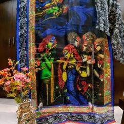 elegant Digital prints on Silk linen sarees