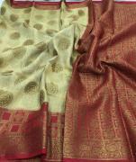 elegant Banaras handloom linen silk Sarees available