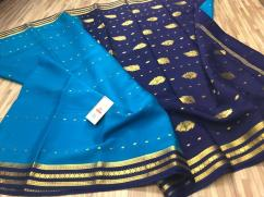 elegant EXCLUSIVE MYSORE SILK CREPE WITH TRADITIONAL MOTIFS