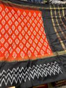 elegant Pure handloom ikkat pure silk sarees with blouse