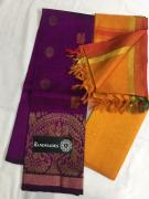 elegant Pure Handloom Mangalagiri Cotton Silk Dress Materials