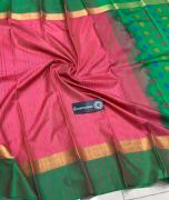elegant Pure Handloom kanchi Brocade Silk Sarees with Weaving Buttas