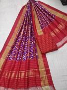elegant Pure silk special designer dupatta with ikkat seiko top