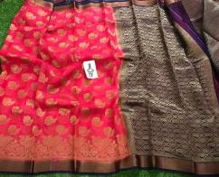 elegant Pure Kanchi organza antic design sarees available