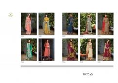 elegant tm rozan pure raw silk embroidery suits available