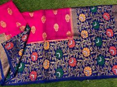 elegant Banarasi Pure Handloom Butter Silk Sarees available