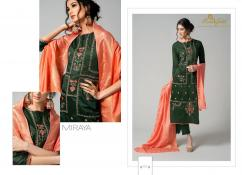 elegant rv gold miraya pure chanderi silk with embroidery work suits