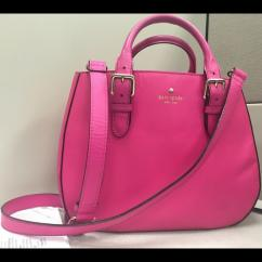 Pink In Color Handbag Available