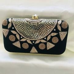 Designer Clutch In Black Color Available