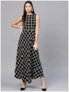 Ladies Kurti In Black Color With Square Print