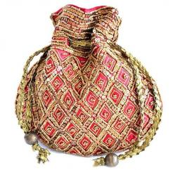 Red Coloured Jewellery Pouch Available