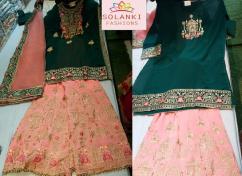 Designer women party wear sarara...with Solanki Fashion