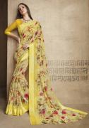 Buy designer Yellow colour sarees online at best prices