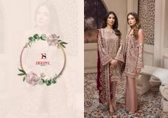 deepsy jazmin catalog at singles  georgette semi stitched 3pc suit
