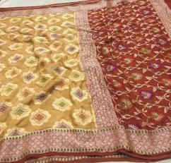 Banaras khaddi georgette (chiffon) Sarees