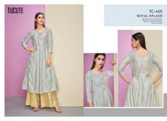 karma tucute 423 series kurtis with plazo catalog at wholesale and singles