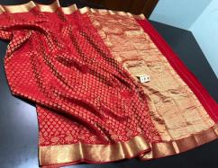 EXCLUSIVE PURE CREPE SILK SAREES WITH UNIQUELY