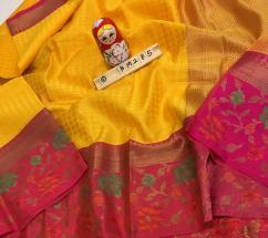 KM285 Kota weaving  contrast border with flowers weaves Weaved blouse