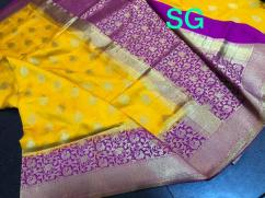 EXCLUSIVE BANARASI SEMI SILK KATHAN SAREE WITH ALLURING MOTIFS ALLOVER- RICH PAL