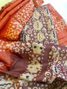 elegant Beautiful cotton silk suit set with Batik work