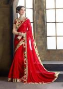 Red Colour Sarees for a Bride to Wear On Her Wedding Day