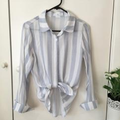 Cotton Ladies Shirt In Crop Style