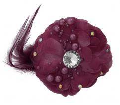 Designer Clip In Light Maroon Colour