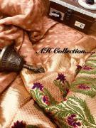 AH Banarsi khaadi georgette saree with meenakari pallu 7850