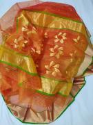 Chanderi katan organza silk all over Ghani butti