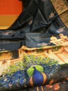 Pure gachi tussar digital printed gachi tussar sarees With silk mark