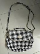 Handbag In Black And White Colour