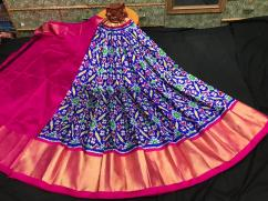 Pochampally lehengas free size for adults