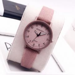 Designer Ladies Watch With Pink Strap