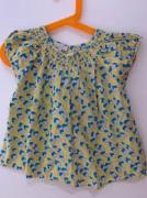 Girls top in cotton fabric