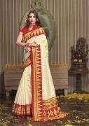 Buy Best Cream Sarees From Mirraw For Elegant Look