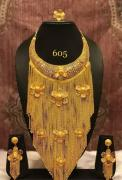 Gold plated high quality neckless set