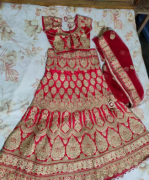 Heavy Red color bridal Lehenga