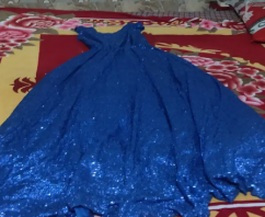 Beautiful blue gown for girls