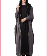 Designer Abaya with lace work and attached hood