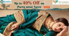 Party wear sarees at Triveni Ethnics