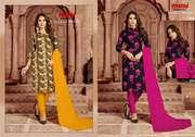 Manufacturer and wholesaler of Designer Everest Rayon 3 Salwar Set