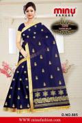 Best Cotton Embroidered Fancy Designer Saree