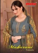 BestCotton Printed with Embroidery Work Unstitched Salwar Kameez Set