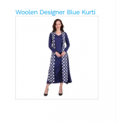 Woolen Designer Blue Kurti