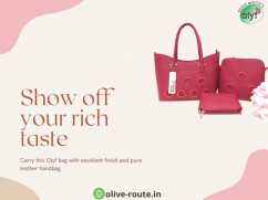 Olyf 3 in 1 Rose Pink Hand Bag Purse Clutch Combo