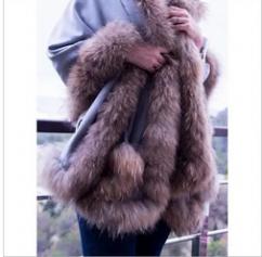 All Color Silk Pashmina 4 Side Fur Shawls , Size-70X200Cm