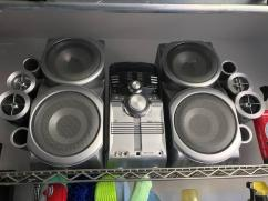 Branded JVC Audio System With Speakers